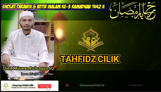 Tarawih Bersama Imam Masjid Kubah Mas 1 Juz Per Malam
